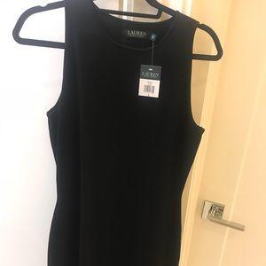 NWT Ralph Lauren Sleeveless Black Stretch Dress